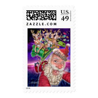 reindeer_sled postage stamps