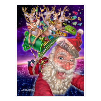 reindeer_sled postcards