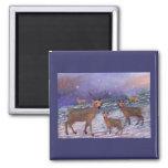 Reindeer Snowfall Magnets