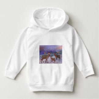 Reindeer Snowfall Toddler Hoodie