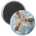 reindeer snowflake antlers magnets