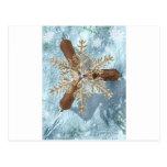 reindeer snowflake antlers post cards