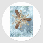 reindeer snowflake antlers sticker