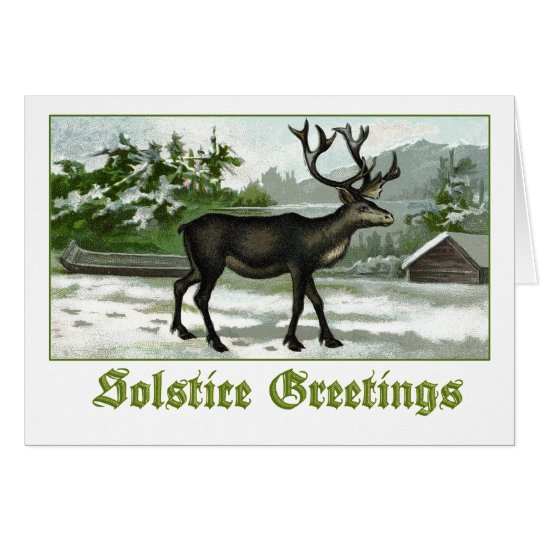 Reindeer - Solstice Greetings Card