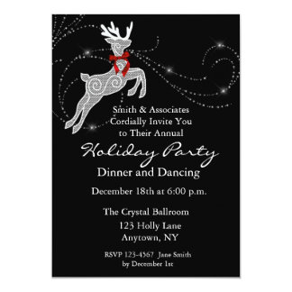 Reindeer Sparkle Holiday Party Invitation