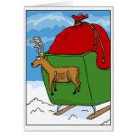 Reindeer Speed Limit Sleigh Card