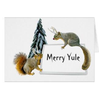 Reindeer Squirrels Photocard Card