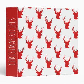 Reindeer | Stag | Antler Red Holiday Pattern Binder