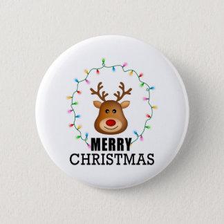 Reindeer Standard, 2¼ Inch Round Button