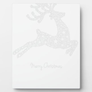 reindeer star plaque