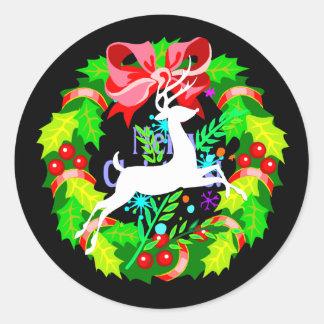 Reindeer Round Sticker