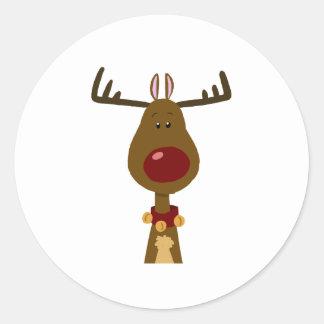 Reindeer Round Stickers