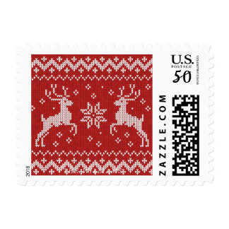 Reindeer Sweater Holiday Postage