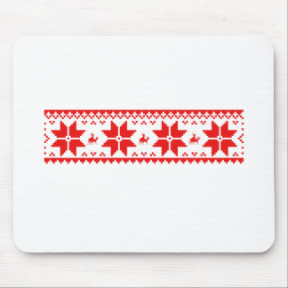 Reindeer Sweater Pattern Mouse Pad