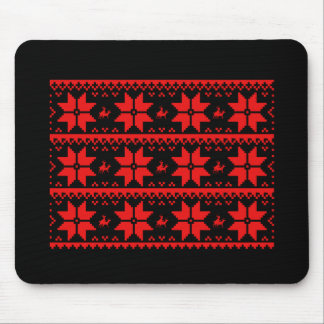 Reindeer Sweater Pattern Multi - Holiday Humor -.p Mouse Pad