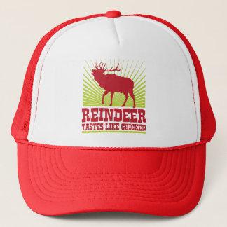 Reindeer Tastes Like Chicken Trucker Hat