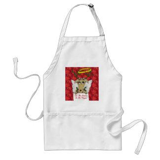 Reindeer Tis The Season to Be Vegan  Angel Gifts Adult Apron