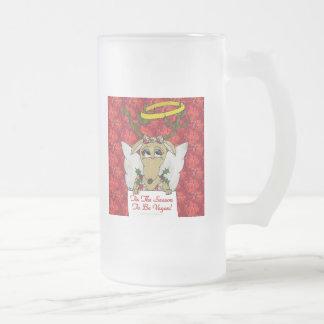 Reindeer Tis The Season to Be Vegan  Angel Gifts Mug