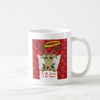 Reindeer Tis The Season to Be Vegan  Angel Gifts Mugs