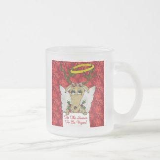 Reindeer Tis The Season to Be Vegan  Angel Gifts Coffee Mugs