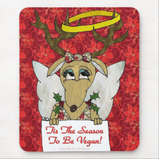 Reindeer Tis The Season to Be Vegan Gifts Apparel Mouse Pad