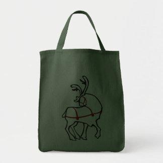 Reindeer Tote Bag Environmental Christmas Tote Bag