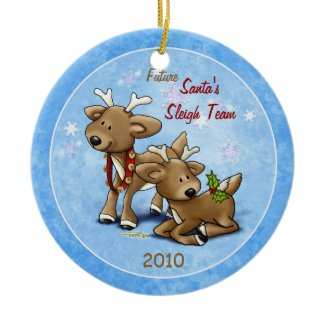 Reindeer - Twins Ornament ornament