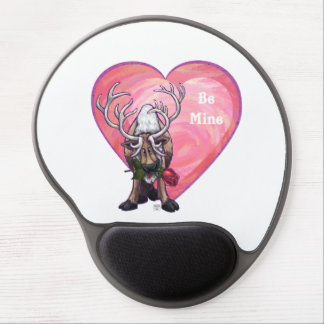 Reindeer Valentine's Day Gel Mouse Mat