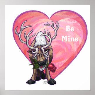 Reindeer Valentine's Day Poster