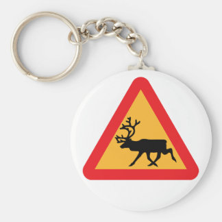 Reindeer Warning keychain