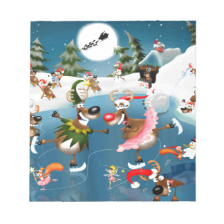 Reindeer winter wonderland notepad