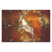 Reindeer with decorative floral elements tissue paper
