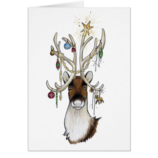Reindeer with Ornaments Card
