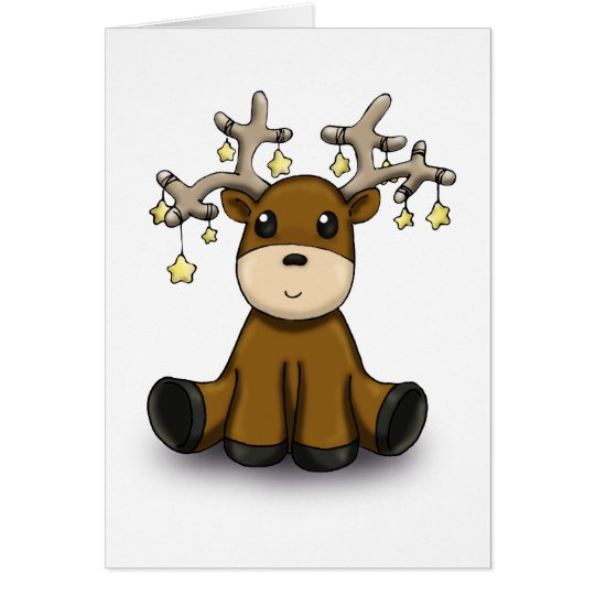 Reindeer with Yellow Stars Card