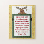 Reindeer Yellow Shopping List 10x14 ONLY! Puzzle