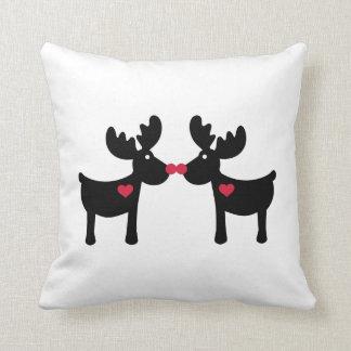 Reindeers love heart pillow