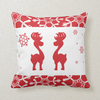 Reindeers Throw Pillow