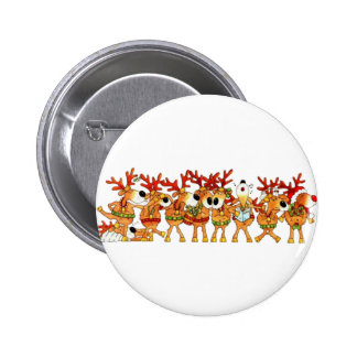 Reindeers Sing Button