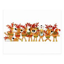 Reindeers Sing Postcard