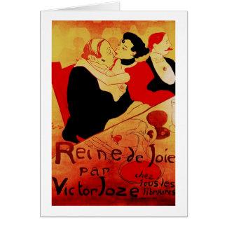 Reine De Joie 1892 Famous Poster Card