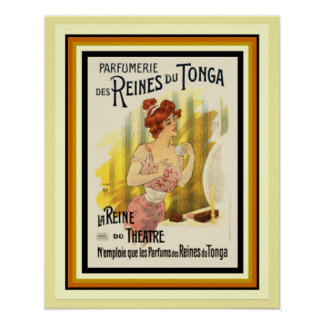 Reines Du Tonga Parfum French Ad Poster 16 x 20