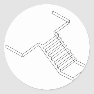 Reinforced Cement Concrete stair Classic Round Sticker
