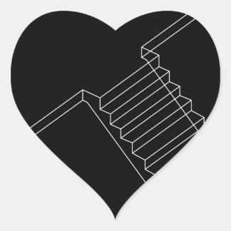 Reinforced Cement Concrete stair Heart Sticker