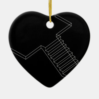 Reinforced Cement Concrete stair Double-Sided Heart Ceramic Christmas Ornament