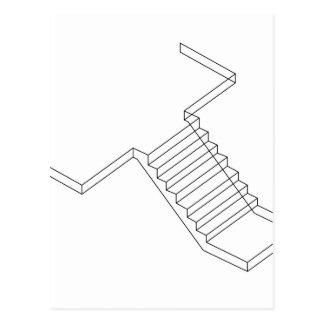 Reinforced Cement Concrete stair Postcard