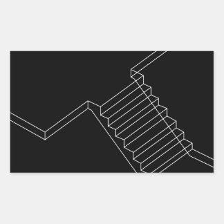 Reinforced Cement Concrete stair Rectangular Sticker