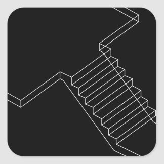 Reinforced Cement Concrete stair Square Sticker