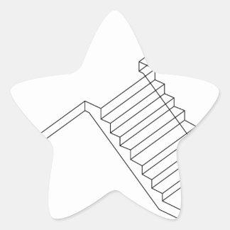 Reinforced Cement Concrete stair Star Sticker