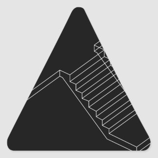 Reinforced Cement Concrete stair Triangle Sticker