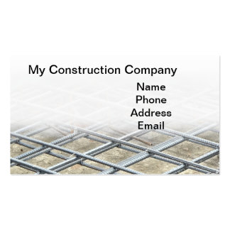 Reinforced Steel Foundation Bars Double-Sided Standard Business Cards (Pack Of 100)